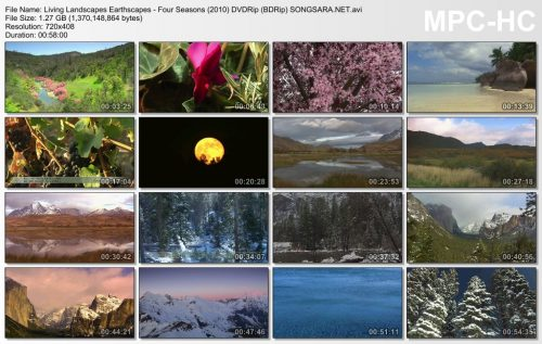 Living Landscapes Earthscapes - Four Seasons (2010) DVDRip (BDRip)