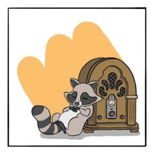 Lock Radio Raccoon